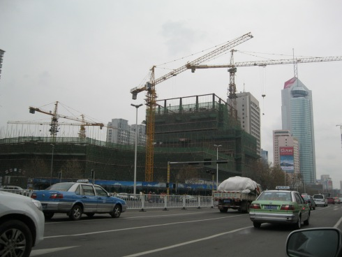 Construction site in downtown Qingdao