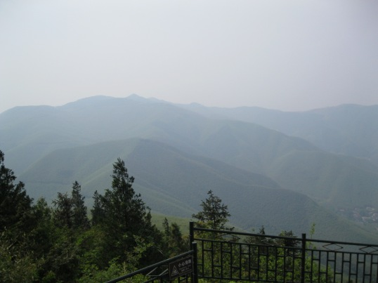 View from Moganshan's highest hiking trail