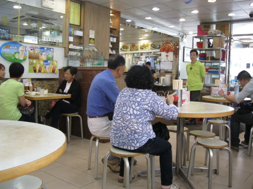 Inside a cha chaan teng in the Tai Po Market neighborhood