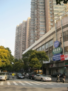 The Hai Fu apartment complex, viewed from Fahuazhen Road.