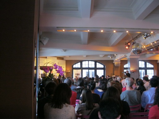 How packed was Osnos's talk? This was my view. He was behind the purple flower.