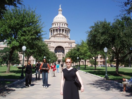 First appearance of my conference dress: Austin, TX, 2009.