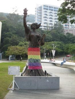Goddess of Democracy replica at the Chinese University of Hong Kong