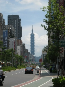 The closest I got to Taipei 101, once the world's tallest building.