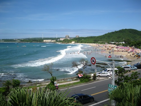 View of Kenting's Nanwan Beach from my hotel room balcony.