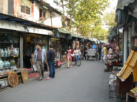 Business as usual for Dongtai Road's stalls.