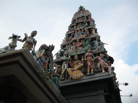 Singapore's oldest Hindu temple, in the heart of Chinatown