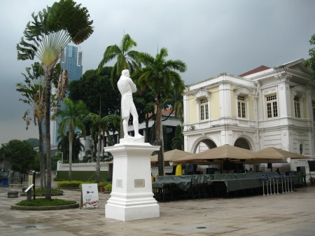 Sir Stamford Raffles surveying his domain