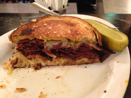 Pastrami Reuben at Eisenberg's Sandwich Shop, a short walk from my office.