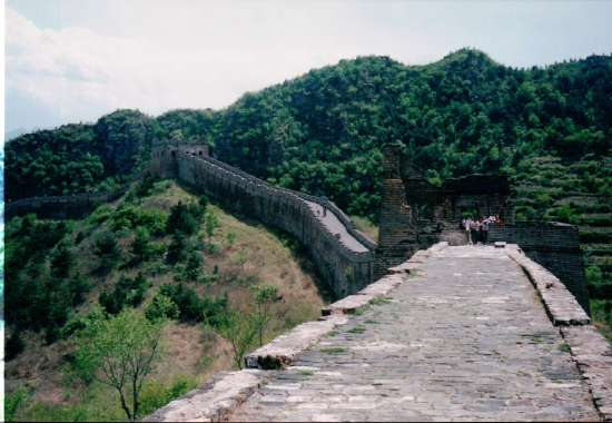 While hiking on the unrestored Great Wall, convinced I would fall over the side