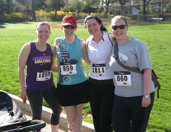 Team 2000: Jackie, Maureen, Moira, and me