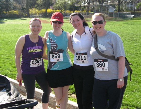 Team 2000: Jackie, Maureen, Moira, and me
