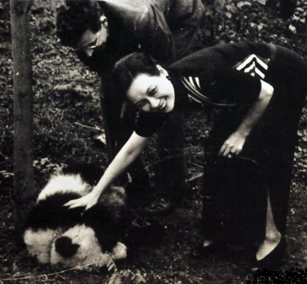 Song Meiling with panda