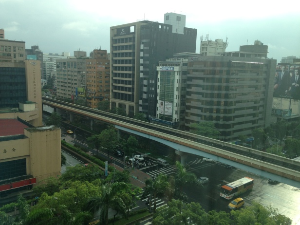 View from my hotel room. I spent a lot of time looking at this intersection.