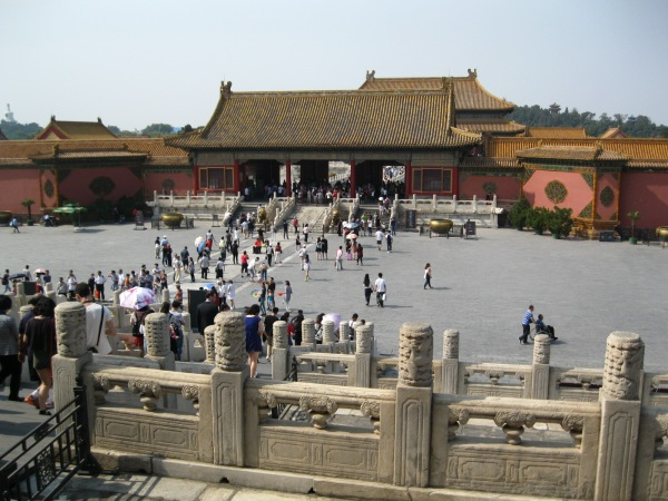 The Forbidden City: practically empty!